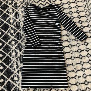 Old Navy Dresses - Black and White striped shirt dress